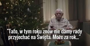 Samotne święta starych ludzi.